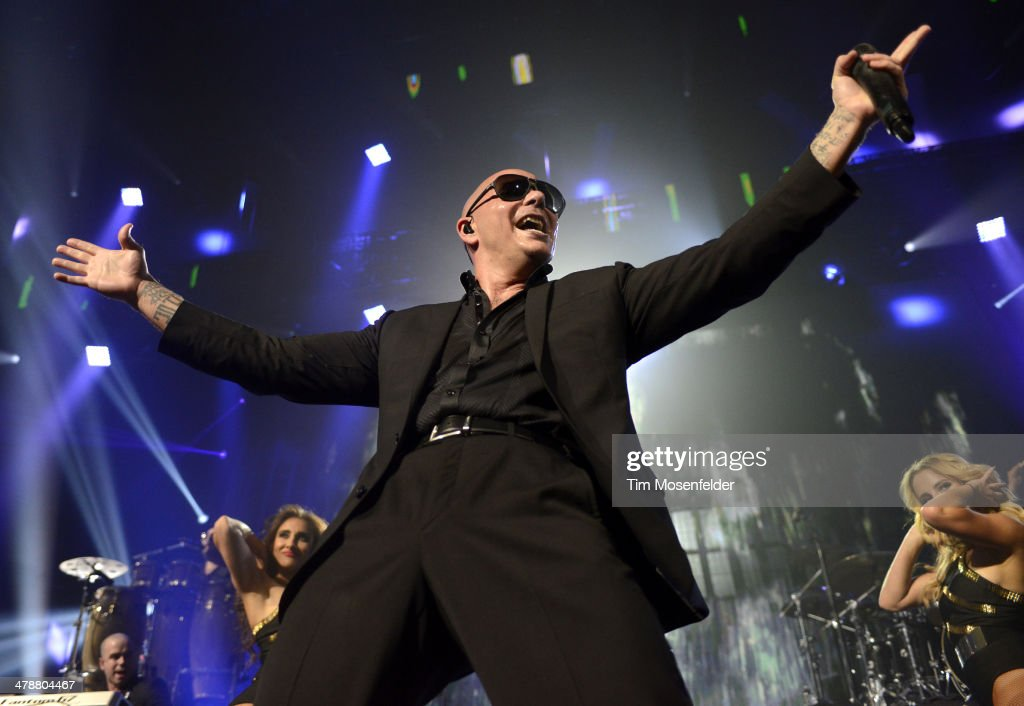 Pitbull performs as part of the iTunes Festival at the Moody Theater on March 14, 2014 in Austin, Texas.