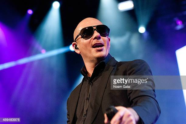 Pitbull performs at the Barclays Center on December 26 2013 in the Brooklyn borough of New York City