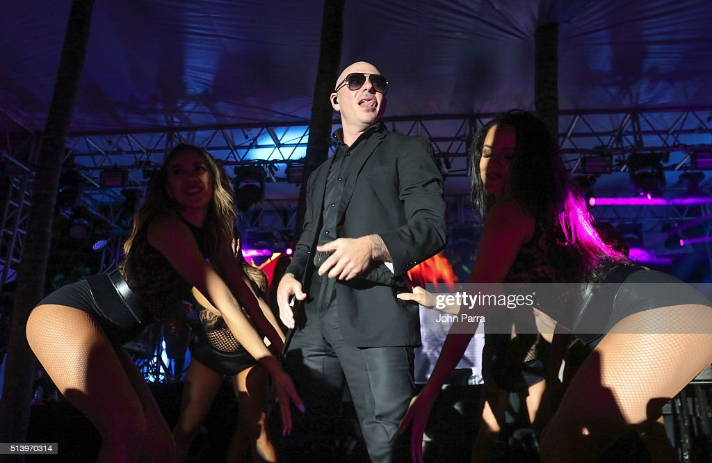 Pitbull performs at the Destination Fashion 2016 to benefit The Buoniconti Fund to Cure Paralysis, the fundraising arm of The Miami Project to Cure Paralysis at Bal Harbour Shops on March 5, 2016 in Miami, Florida.
