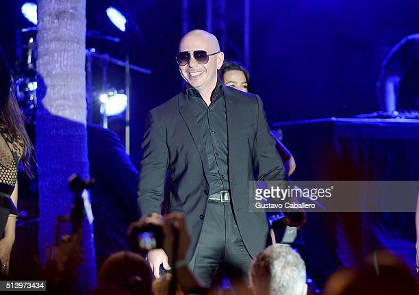 Pitbull performs at the Destination Fashion 2016 to benefit The Buoniconti Fund to Cure Paralysis the fundraising arm of The Miami Project to Cure...
