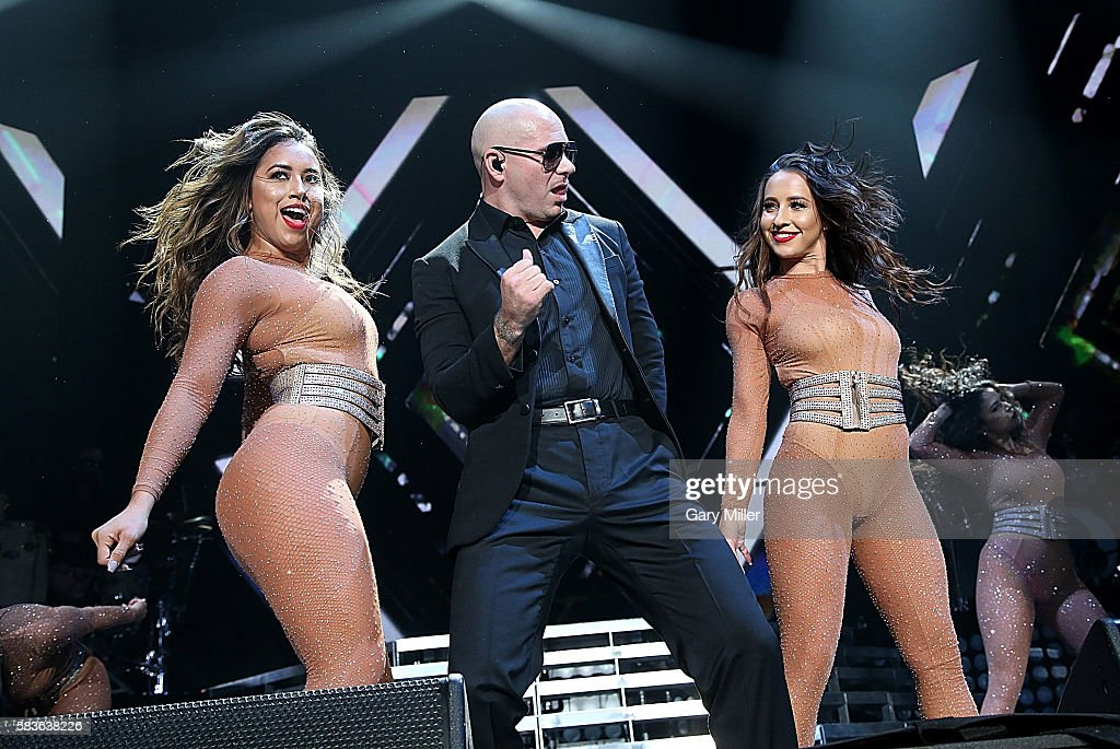 Pitbull performs in concert at ATT Center on July 26 2016 in San Antonio Texas