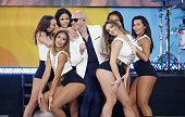 Pitbull performs on ABC's 'Good Morning America' at Rumsey Playfield Central Park on June 3 2016 in New York City