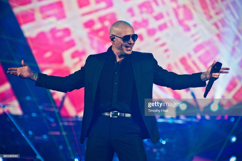 Pitbull performs on opening night of Pitbull and Enrique Iglesias Live! at Allstate Arena on June 3, 2017 in Chicago, Illinois.