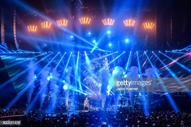 Pitbull performs on stage at American Airlines Arena on June 23 2017 in Miami Florida