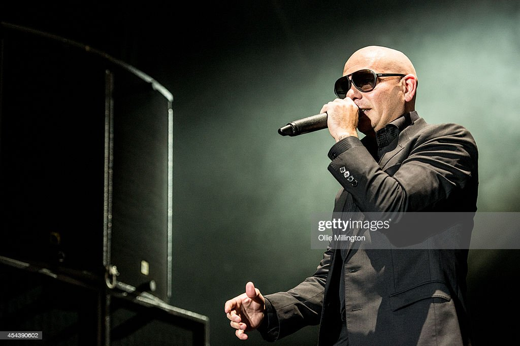 Pitbull performs on stage headlining day 1 of Fusion Festival on August 30, 2014 in Birmingham, England.