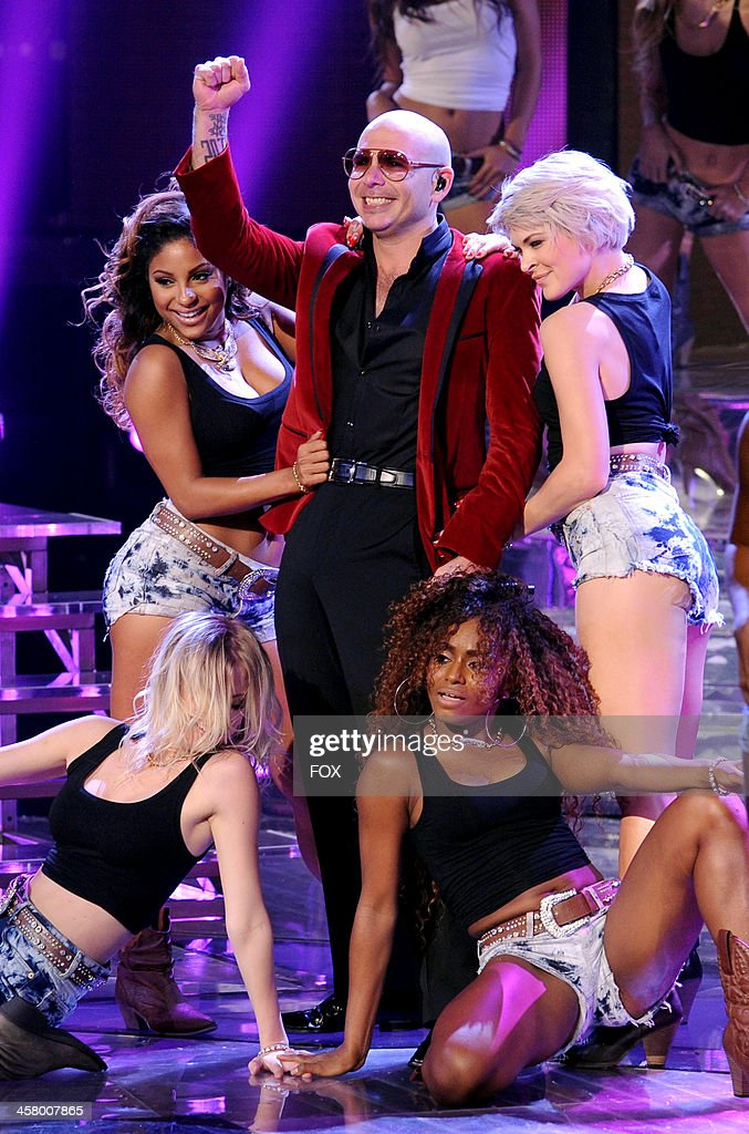 Pitbull performs onstage on FOX's 'The X Factor' Season 3 Live Finale on December 19, 2013 in Hollywood, California.