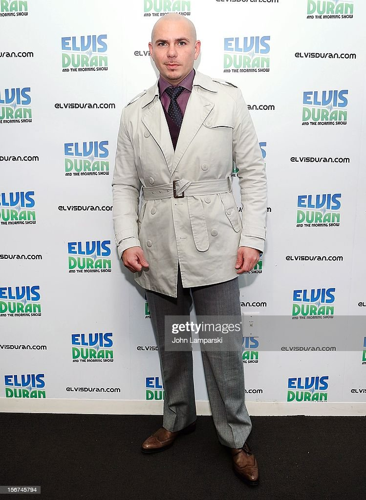 Pitbull visits the Elvis Duran Z100 Morning Show at Z100 Studio on November 20, 2012 in New York City.