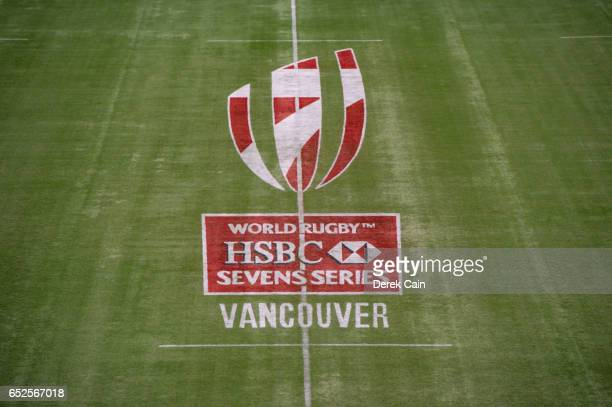 Pitch logo during day 2 of the 2017 Canada Sevens Rugby Tournament on March 12 2017 in Vancouver British Columbia Canada