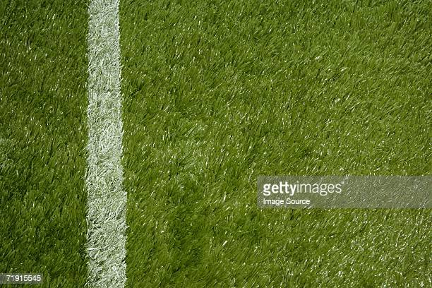 Pitch with a painted line