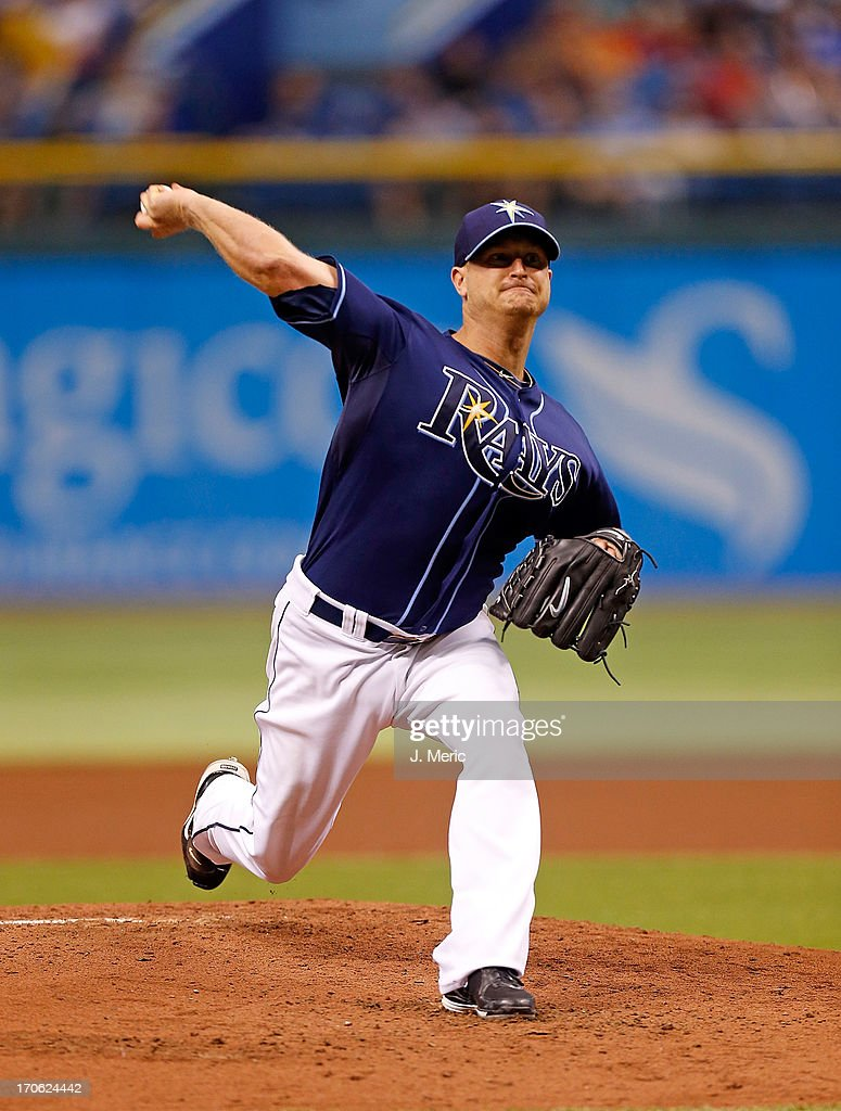 Pitcher Alex Cobb #53 of the Tampa Bay Rays pitches against the Kansas City Royals during the game at Tropicana Field on June 15, 2013 in St. Petersburg, Florida.