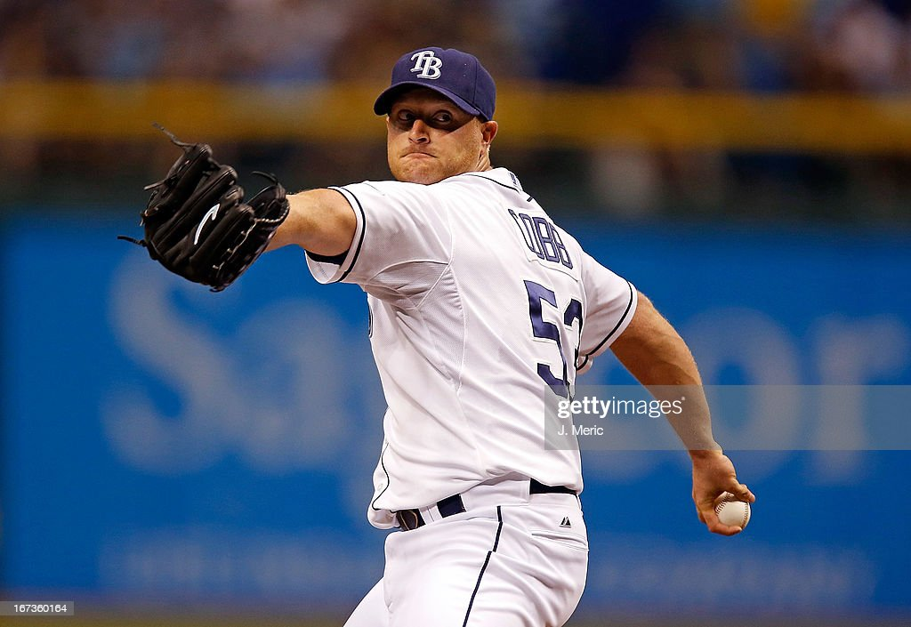 Pitcher Alex Cobb #53 of the Tampa Bay Rays pitches against the New York Yankees during the game at Tropicana Field on April 24, 2013 in St. Petersburg, Florida.