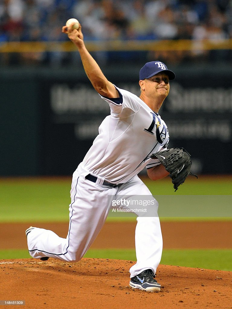 Pitcher <a gi-track='captionPersonalityLinkClicked' href=/galleries/search?phrase=Alex+Cobb&family=editorial&specificpeople=7512114 ng-click='$event.stopPropagation()'>Alex Cobb</a> #53 of the Tampa Bay Rays starts against the Cleveland Indians July 16, 2012 at Tropicana Field in St. Petersburg, Florida.