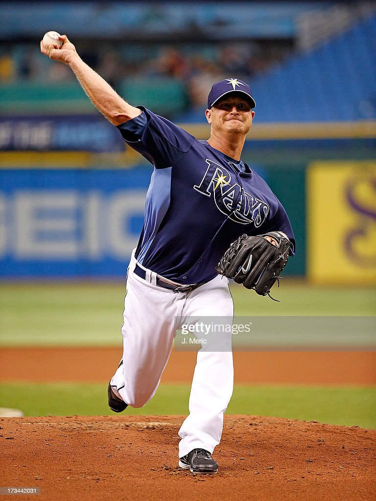 Pitcher Alex Cobb #53 of the Tampa Bay Rays throws some live batting practice just before the game against the Houston Astros at Tropicana Field on July 14, 2013 in St. Petersburg, Florida.