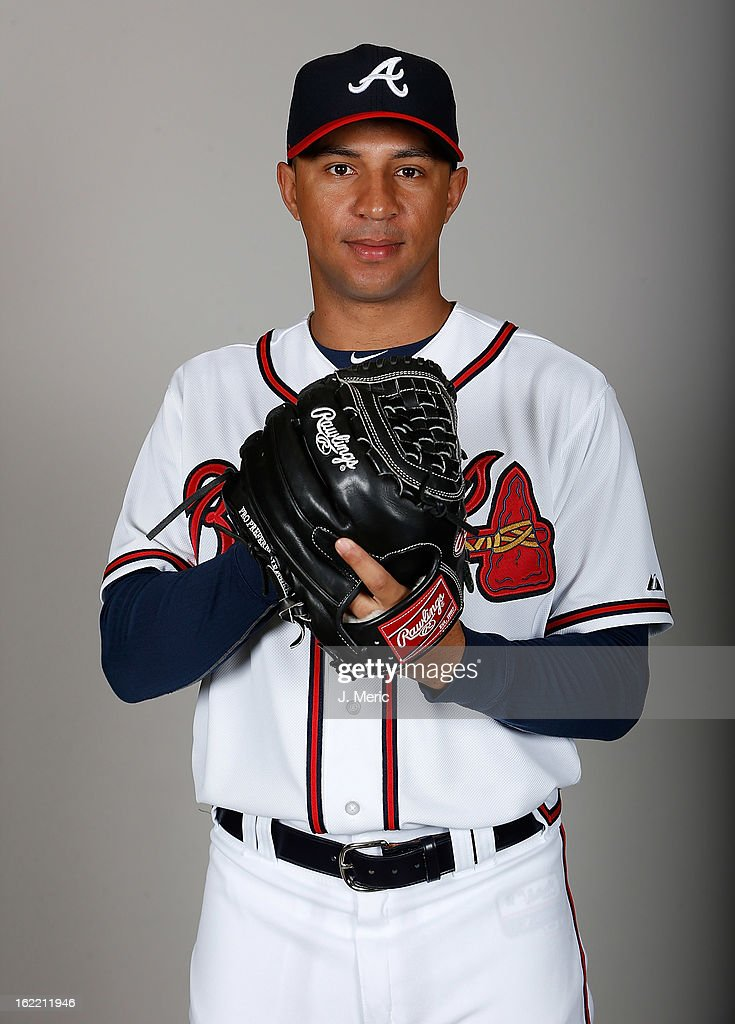Pitcher Anthony Varvaro #38 of the Atlanta Braves poses for a photo during photo day at Champion Stadium at the ESPN Wide World of Sports Complex at Walt Disney World on February 20, 2013 in Lake Buena Vista, Florida.