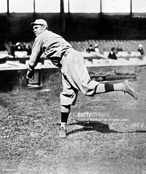 Pitcher Babe Ruth of the Boston Red Sox practices his delivery circa 19141919 Babe Ruth played for the Boston Red Sox from 19141919