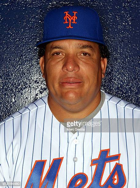 Pitcher Bartolo Colon poses for photos during media day at Traditions Field on March 1 2016 in Port St Lucie Florida