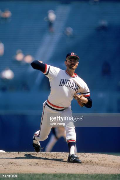 Pitcher Bert Blyleven of the Cleveland Indians delivers a pitch during a MLB game in 1984