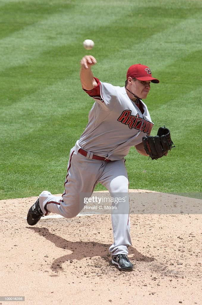 Pitcher Billy Buckner #33 of the Arizona Diamondbacks pitches to the Florida Marlins during a MLB game in Sun Life Stadium on May 18, 2010 in Miami, Florida.