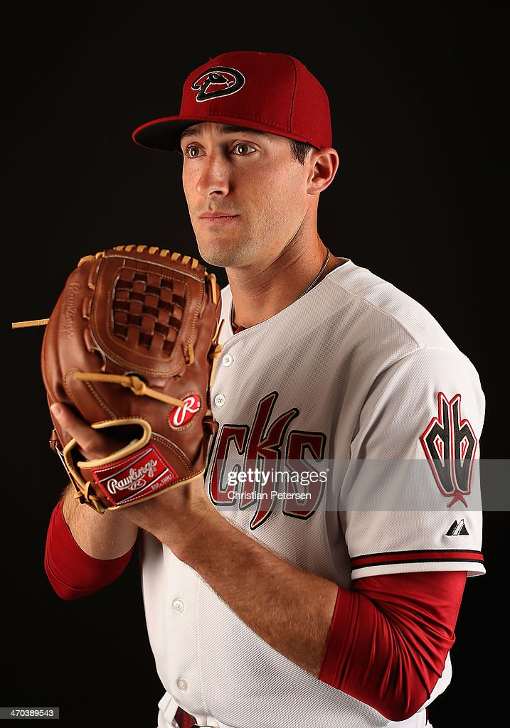 Pitcher Bo Schultz #58 of the Arizona Diamondbacks poses for a portrait during spring training photo day at Salt River Fields at Talking Stick on February 19, 2014 in Scottsdale, Arizona.