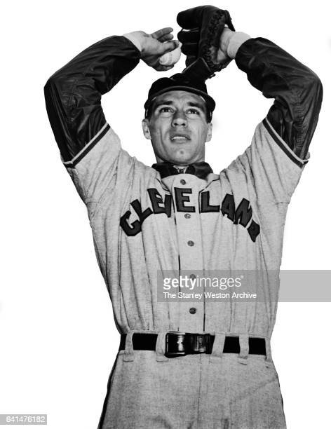Pitcher Bob Feller of the Cleveland Indians poses for a portrait circa 1950