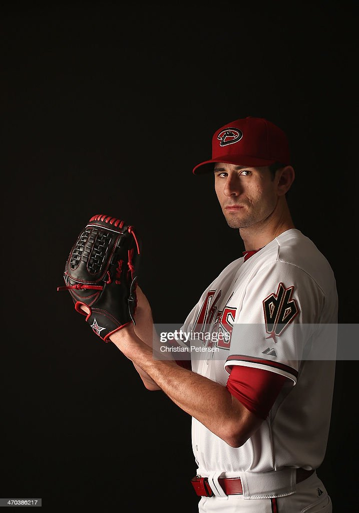 Pitcher <a gi-track='captionPersonalityLinkClicked' href=/galleries/search?phrase=Brandon+McCarthy&family=editorial&specificpeople=224849 ng-click='$event.stopPropagation()'>Brandon McCarthy</a> #32 of the Arizona Diamondbacks poses for a portrait during spring training photo day at Salt River Fields at Talking Stick on February 19, 2014 in Scottsdale, Arizona.