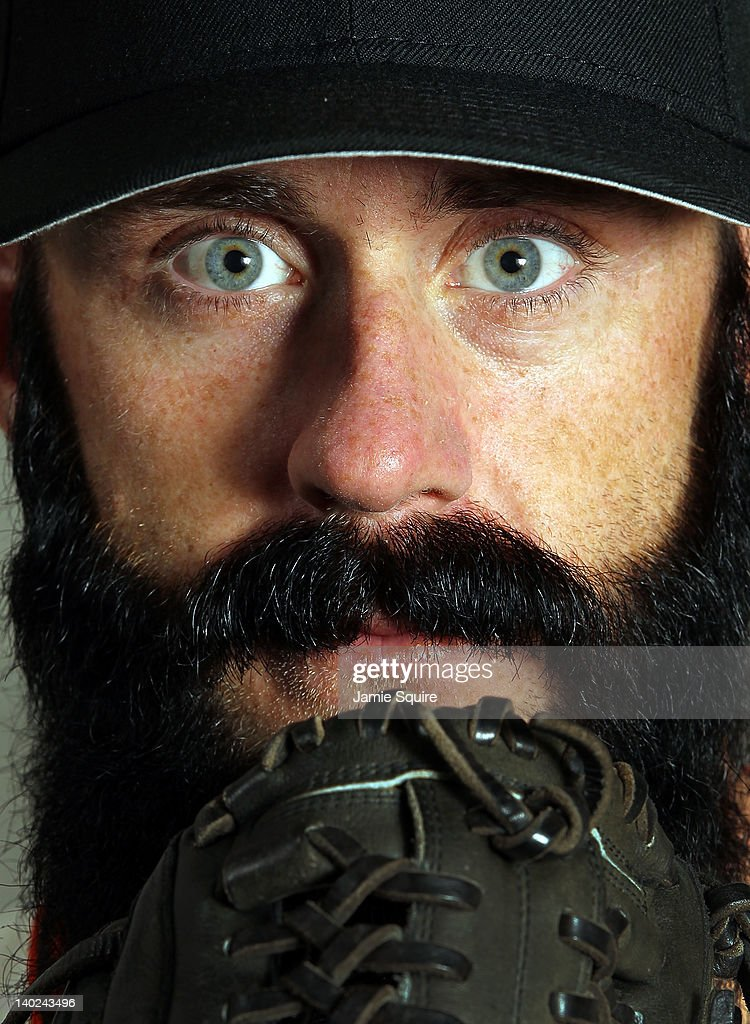 Pitcher Brian Wilson #38 of the San Francisco Giants poses during spring training photo day on March 1, 2012 in Scottsdale, Arizona.