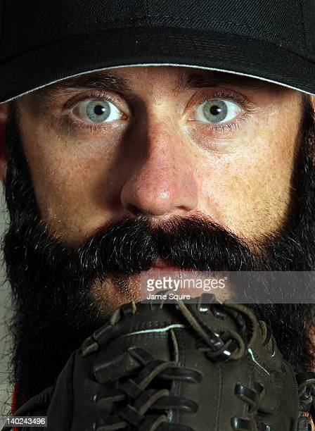 Pitcher Brian Wilson of the San Francisco Giants poses during spring training photo day on March 1 2012 in Scottsdale Arizona
