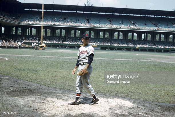 Pitcher Camilo Pascual of the Washington Senators warms up prior to the first game of a doubleheader on May 22 1960 against the Chicago White Sox at...