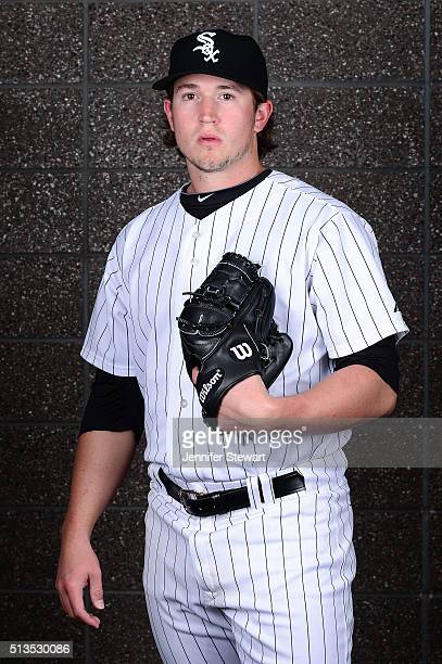 Pitcher Carson Fulmer of the Chicago White Sox poses for a portrait during spring training photo day at Camelback Ranch on February 27 2016 in...