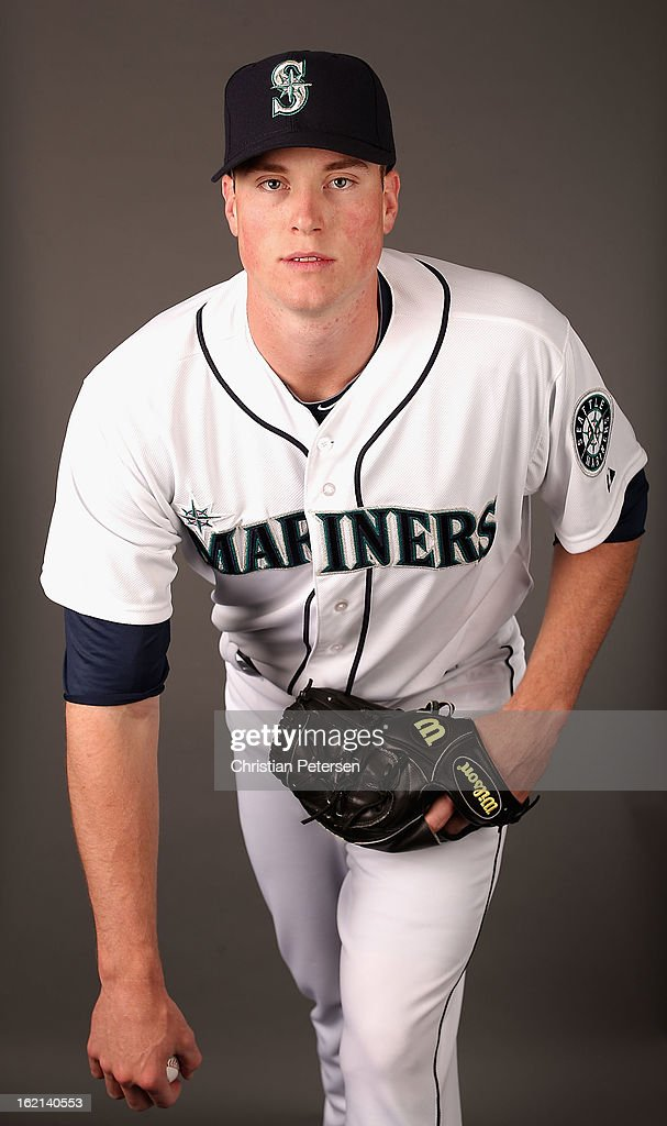 Pitcher Carter Capps #58 of the Seattle Mariners poses for a portrait during spring training photo day at Peoria Stadium on February 19, 2013 in Peoria, Arizona.
