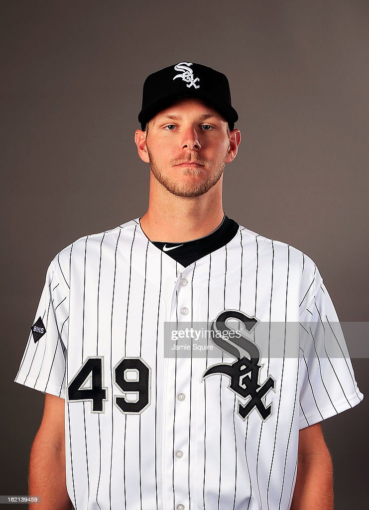 Pitcher Chris Sale poses for a portrait during Chicago White Sox Photo Day on February 19 2013 in Glendale Arizona