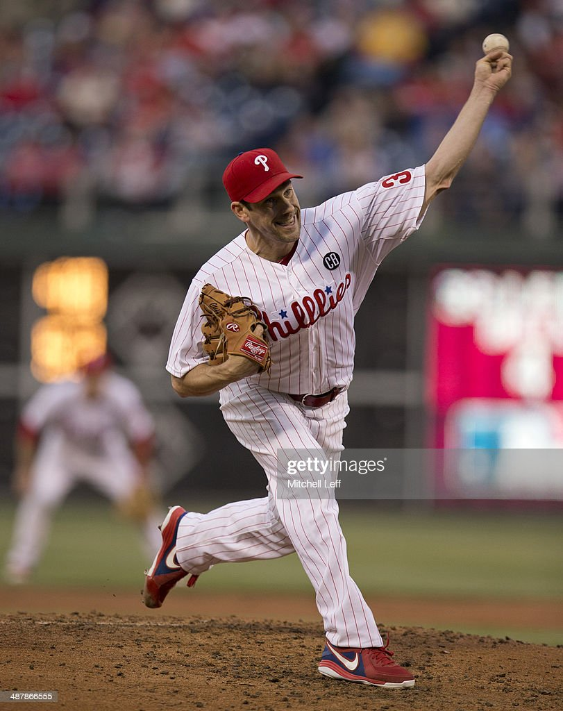 Pitcher Cliff Lee #33 of the Philadelphia Phillies throws a pitch in the second inning against the Washington Nationals on May 2, 2014 at Citizens Bank Park in Philadelphia, Pennsylvania.