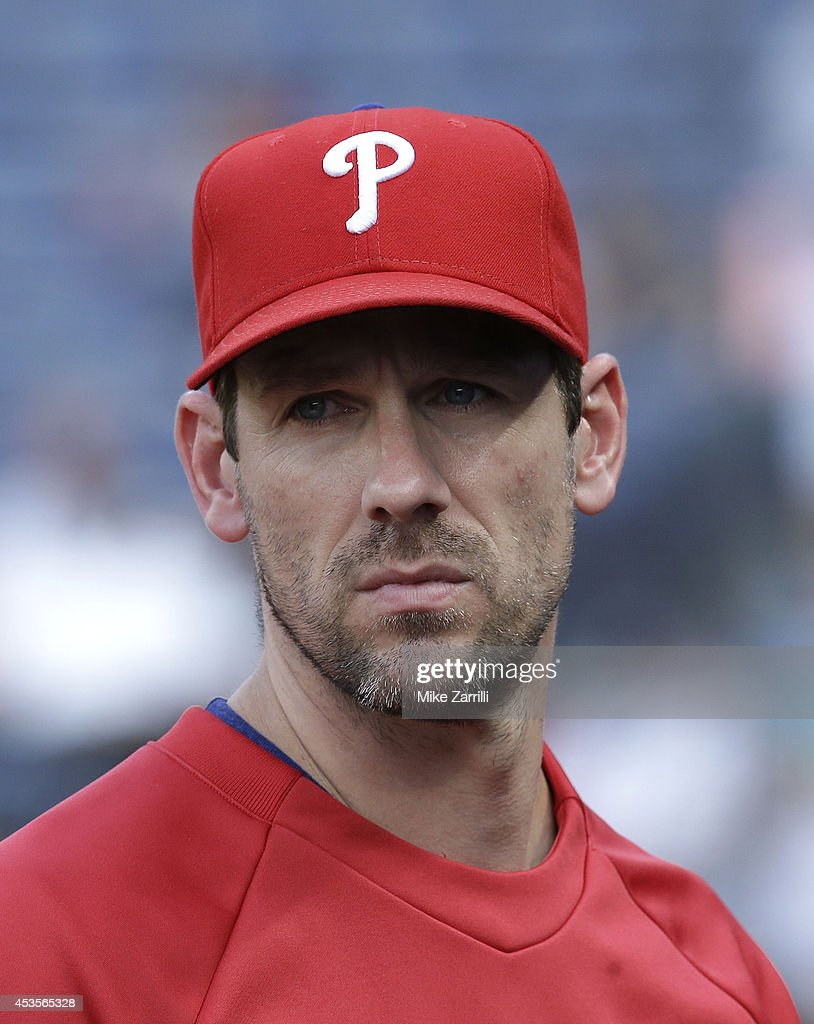 Pitcher Cliff Lee #33 of the Philadelphia Phillies watches action on the field during the game against the Atlanta Braves at Turner Field on June 16, 2014 in Atlanta, Georgia.