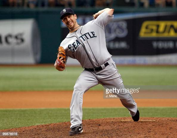 Pitcher Cliff Lee of the Seattle Mariners pitches against the Tampa Bay Rays during the game at Tropicana Field on May 16 2010 in St Petersburg...