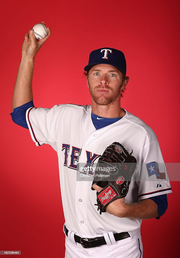 Pitcher Collin Balester #59 of the Texas Rangers poses for a portrait during spring training photo day at Surprise Stadium on February 20, 2013 in Surprise, Arizona.