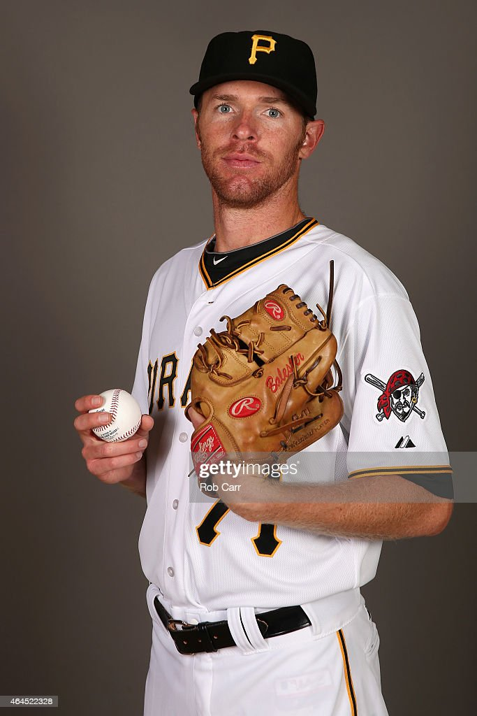 Pitcher <a gi-track='captionPersonalityLinkClicked' href=/galleries/search?phrase=Collin+Balester&family=editorial&specificpeople=4424735 ng-click='$event.stopPropagation()'>Collin Balester</a> #71 poses for a portrait on photo day on February 26, 2015 at Pirate City in Bradenton, Florida.