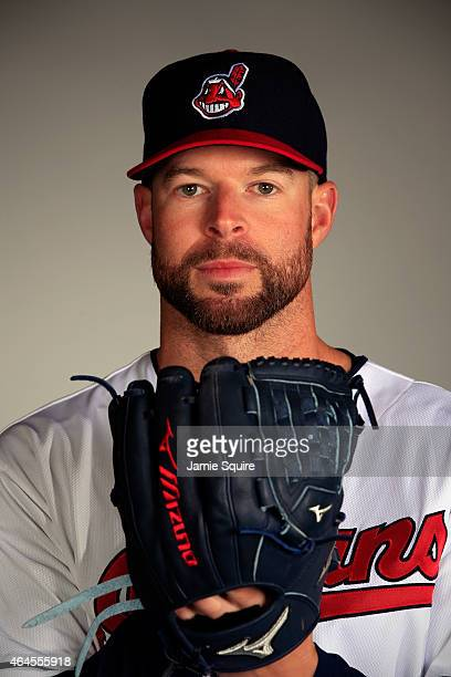 Pitcher Corey Kluber poses during Cleveland Indians Photo Day on February 26 2015 in Goodyear Arizona