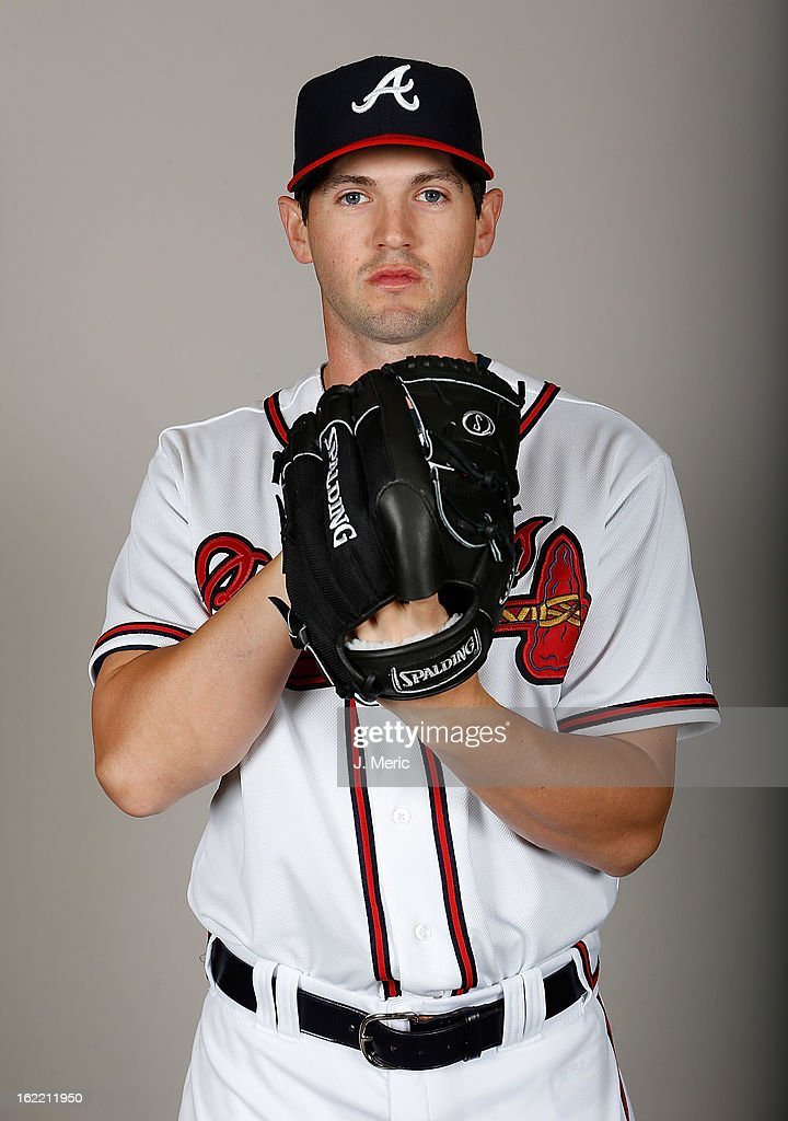 Pitcher Cory Gearrin #53 of the Atlanta Braves poses for a photo during photo day at Champion Stadium at the ESPN Wide World of Sports Complex at Walt Disney World on February 20, 2013 in Lake Buena Vista, Florida.
