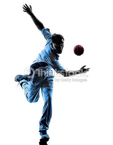 pitcher cricket player silhouette stock photo thinkstock