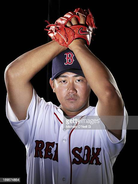 Pitcher Daisuke Matsuzaka is photographed for Sports Illustrated on March 15 2007 in Fort Myers Florida CREDIT MUST READ Michael O'Neill/Sports...