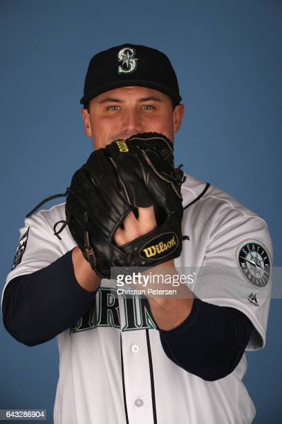 Pitcher Dan Altavilla of the Seattle Mariners poses for a portrait during photo day at Peoria Stadium on February 20 2017 in Peoria Arizona