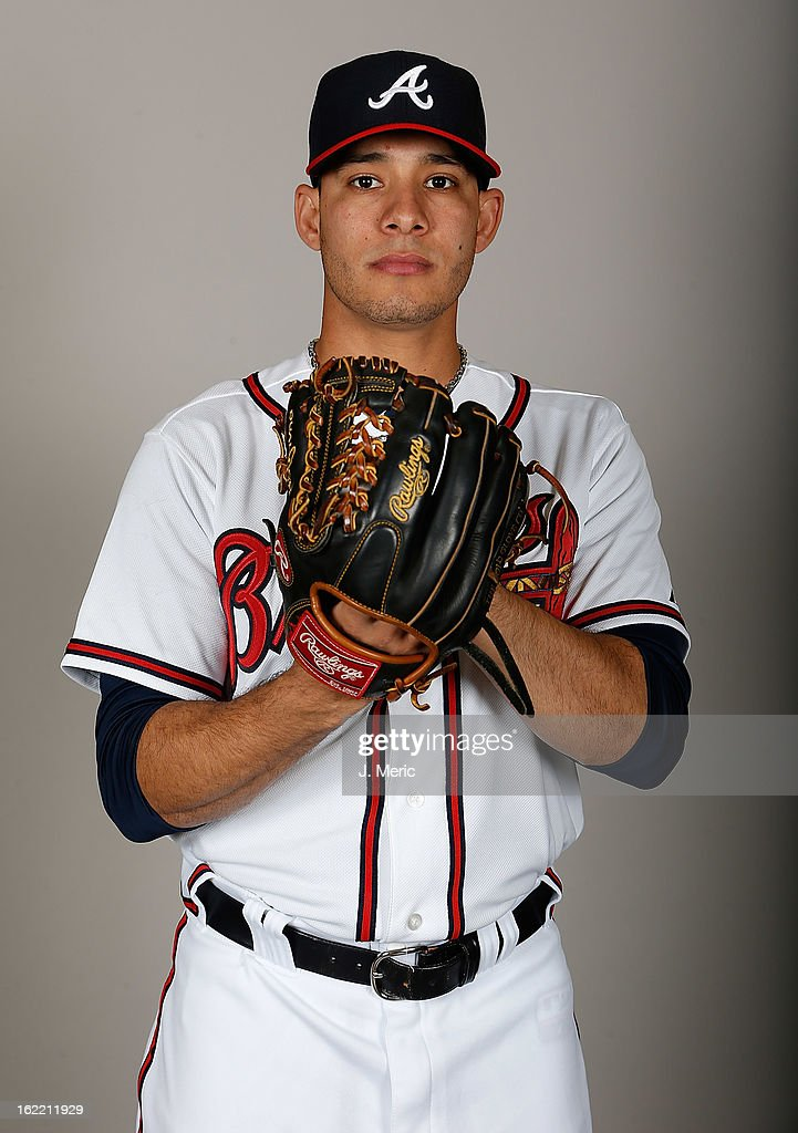Pitcher Daniel Rodriguez #59 of the Atlanta Braves poses for a photo during photo day at Champion Stadium at the ESPN Wide World of Sports Complex at Walt Disney World on February 20, 2013 in Lake Buena Vista, Florida.