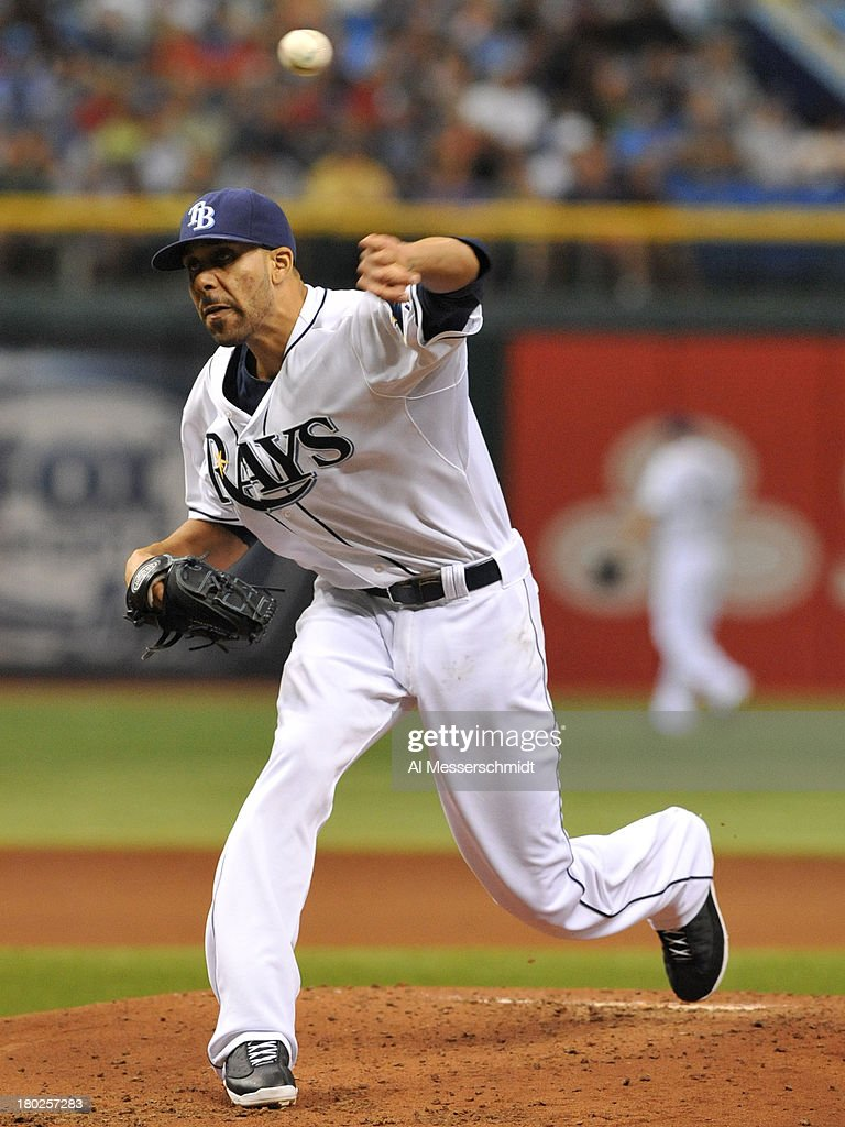 Pitcher David Price #14 of the Tampa Bay Rays starts against the Boston Red Sox September 10, 2013 at Tropicana Field in St. Petersburg, Florida.