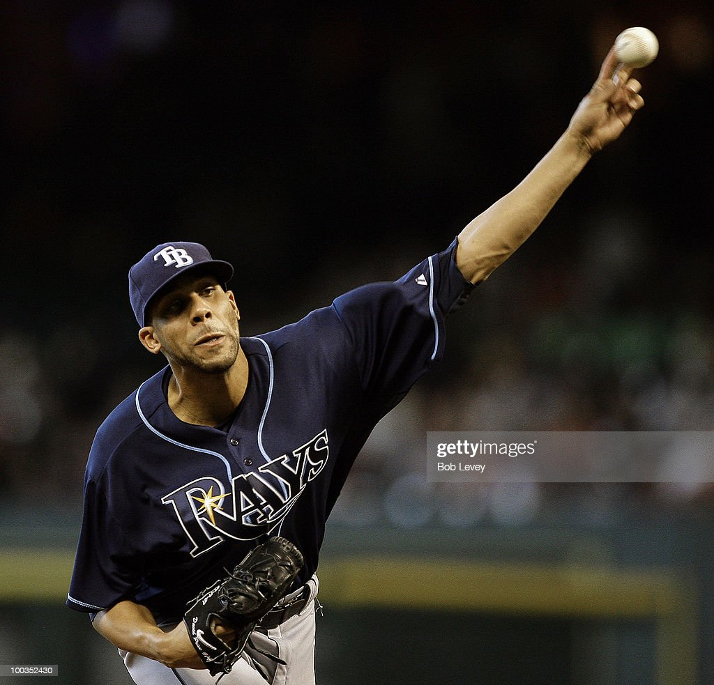 Pitcher David Price #14 of the Tampa Bay Rays throws in the first inning against the Houston Astros ay Minute Maid Park on May 23, 2010 in Houston, Texas.