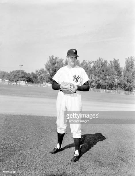 Pitcher Don Larsen of the New York Yankees poses for a portrait in March 1959 during Spring Training in St Petersburg Florida