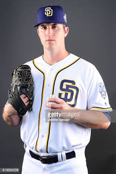 Pitcher Drew Pomeranz of the San Diego Padres poses for a portrait during spring training photo day at Peoria Sports Complex on February 26 2016 in...