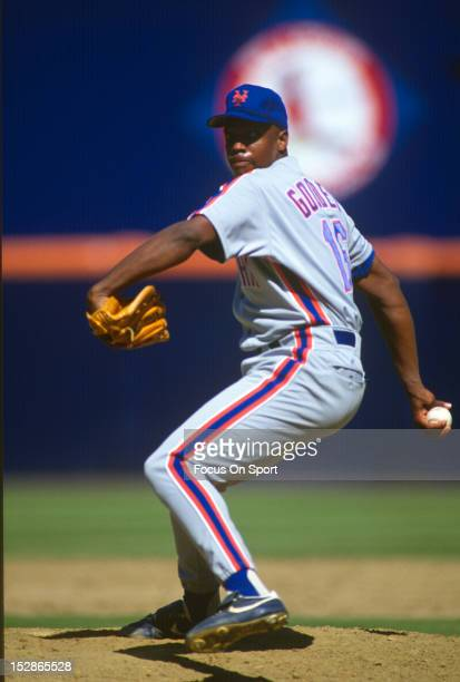 Pitcher Dwight Gooden of the New York Mets pitches during an Major League Baseball game circa 1990 Gooden played for the Mets from 198494