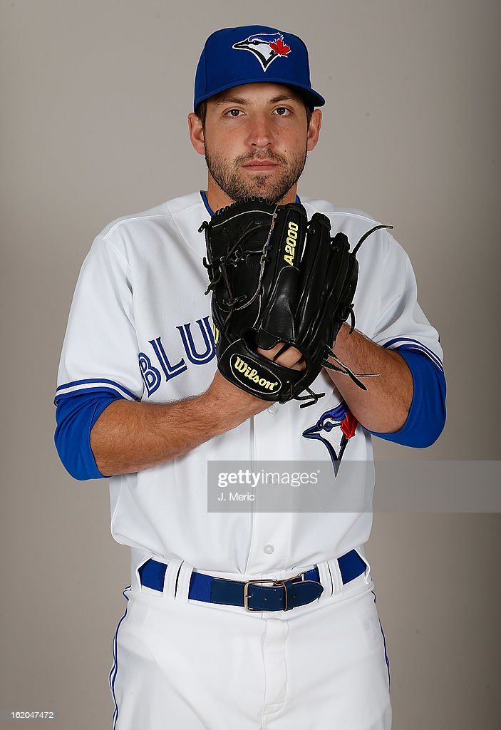 Pitcher Evan Crawford #46 of the Toronto Blue Jays poses for a photo during photo day at Florida Auto Exchange Stadium on February 18, 2013 in Dunedin, Florida.
