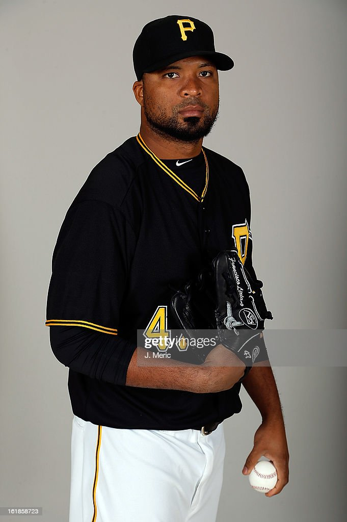 Pitcher Francisco Liriano #47 of the Pittsburgh Pirates poses for a photo during photo day at Pirate City on February 17, 2013 in Bradenton, Florida.