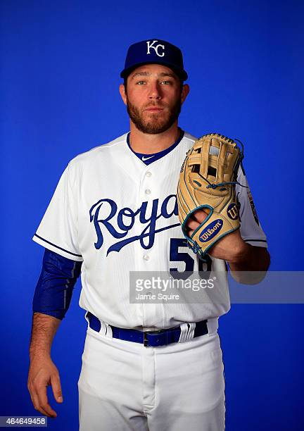 Pitcher Greg Holland poses during Kansas City Royals Photo Day on February 27 2015 in Surprise Arizona
